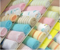 Genuine export Garbo 8 mounted small square towel bibs infant feeding small towel