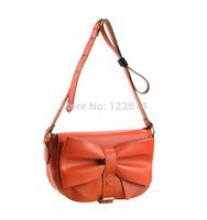 New Fashion Korea Japan Style Women Clutch Handbag PU Leather Bow Decorate Cute Vintage Fashion Shoulder Bag 3021-XH
