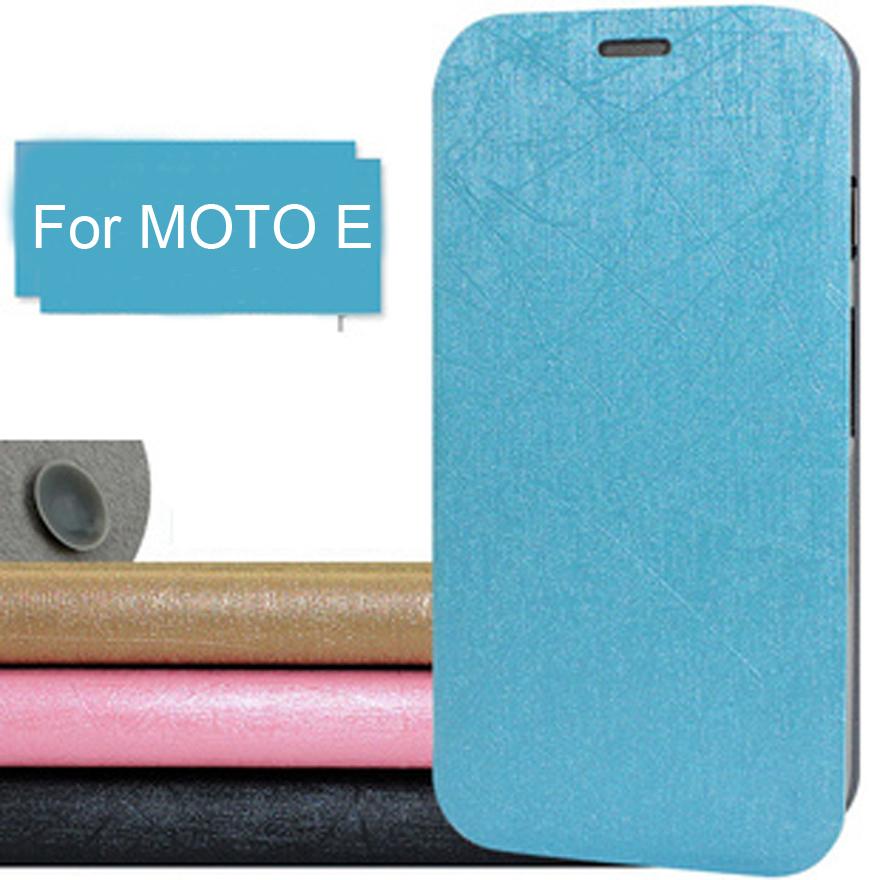 Original Pudini lightning Color Leather Case for Moto E Phone+ Free Screen Filmx20pcs(China (Mainland))