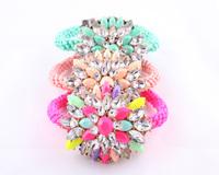 New 2014 high quality women Wrap Bracelets shourouk crystal Rope Chain bracelets & bangles for women jewelry wholesale
