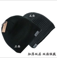 Double use 100% acrylic super soft thick outdoor skiing warm cap 4color 1pcs free shipping