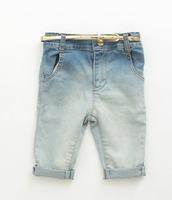 children Water gradient jeans girl and boy denim half pants
