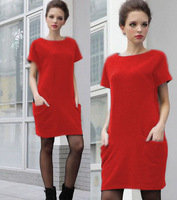 Hot sale 6 colors SUMMER Euramerican loose style dress good quality free shipping