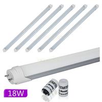 10pcs 4ft 1200mm 18W T8 LED Tube Lighting 6000k~6500K Pure White Light Single Tube 110v~220V