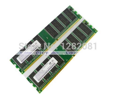 New 2GB 2x1GB PC3200 DDR400 DDR 184pin Non-Ecc Unbuffered DIMM Dekstop Memory(China (Mainland))