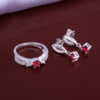 Wholsale new FASHION jewelry  925 Sterling Silver earrings ring set Penoyjewelry LKNSPCS636