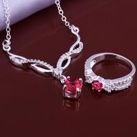 Wholsale new FASHION jewelry  925 Sterling Silver necklace ring set Penoyjewelry LKNSPCS638