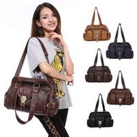 Women Vintage Travel Messenger Bag Fashion Casual Handbags For School Girls Student Book Bag Trendy Summer 2014 Latest 5 Colors