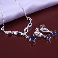 Wholsale new FASHION jewelry  925 Sterling Silver earrings necklace set Penoyjewelry LKNSPCS642
