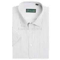High Quality Striped Men's brand shirt Mens Short sleeve dress shirt Classic easy care business Formal shirts camisas masculina