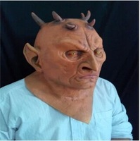 Free shipping Hot selling High Quality Six Horned Monster Latex Mask For Halloween Scary