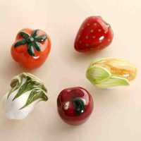 20pcs Fruits and Vegetable shape Handles Cabinet Ceramic Knobs Baby room Handles Dresser Closet Kids Bedroom Furniture