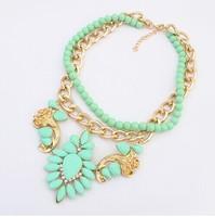 summer 2014 fashion big star fan of luxury dazzling gem drop rhinestone Chokers Necklaces & Pendants  XL-076
