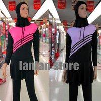 2014 Summer solid color muslim islamic swimwear arabic swimsuit,full cover,abaya,maillot de bain,hijab separately