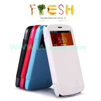 case for moto g colors Window View Smart Leather Case Nillkin Fresh Series Free Shipping