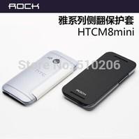 Original ROCK Brand Elegant Series PU Leather + PC Back Cover Case For HTC New One 2 M8 mini ,MOQ:1PCS free shipping
