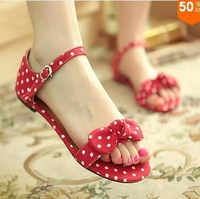 Supernova selling new 2014 women summer shoes bow sweet style flat sandals for women fashion big size women's shoes canvas shoes