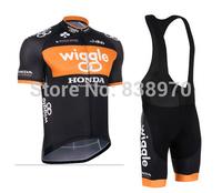 New Arrival ! 2014 dhb Team Wiggle Honda Bike Cycling Jersey and bicicleta bib Shorts Ciclismo Clothing MTB SZ13