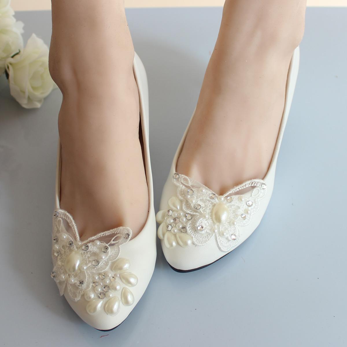 Online Get Cheap White Wedding Ballet Flats Aliexpress