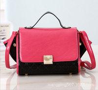 2014 New Bat Design Flip Cover Bags PU Leather Women Hobo Clutch Handbag Shoulder Tote Sling Bag