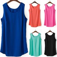 Wholesale Price, Better Quality Summer Hot sleeveless Casual Blouse Shirt Fit fat women's Big Size , Plus Plus Size L-4XL
