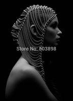 Retail H036 Punk Head Piece Hair Jewelry Fashion Jewelry Metal Chains  Body chain