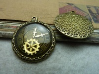 5a ancient bronze oil clock gear 28* 32mm  accessories vintage