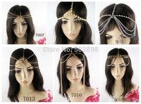 Retail Multy Styles Head Hair Rhinestone Jewelry Fashion Jewelry Metal Chains  Body chain