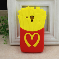 3D French Fries Silicone Phone Case Cover For Samsung GT-i8190 Galaxy S3 Mini