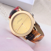 fashion style simple atmospheric gilt dial watch women ladies watches imitation snakeskin PU color female  EM5871700