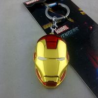 Marvel Comics Iron Man Head Golden Mask Metal Keychain NEW HOT Combine Shipping