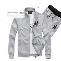 free shipping 2014 brand Men's jacket + Pants  sport suit outerwear coat  sportwear sets,Men's tracksuit