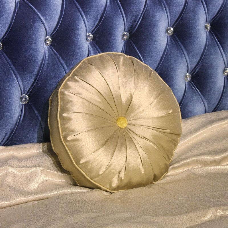 Gold pumpkin round pillowcase luxury sofa cushion cover pillow cases capa de almofadas novelty ...