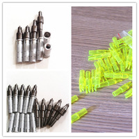 20 pcs (arrow knock +insert +100 grain tip) for ID 6.2mm carbon shaft hunting archery bow glassfiber arrow hunter hunting