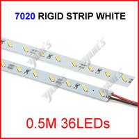 ( 500 pcs/lot ) 0.5M 12V 36LEDs SMD 7020 White LED Aluminum Rigid Hard Light Bar Strip Wholesale