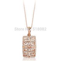New 18k rose gold/platinum plated G style geometric vintage fashion women necklace pendant (UVOGUE VN00068)