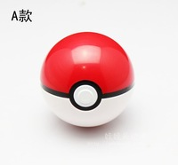 1 Pcs/Lot ABS Anime Action & Toy Figures Pokemon Balls PokeBall Fairy Red & White Ball Super A-Type Ball Toys + 1 Free Pikachu