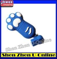 NEW 2014 fashion!! 64GB CATclaw Cartoon usb flash drive pen drive paw memory stick drives thumb drive from Shen Zhen U-Online