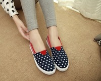 spring and autumn new canvas shoes Happy women's shoes leisure shoes flat shoes single shoes