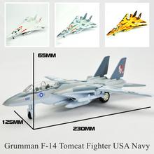 Brinquedo Kids Weapon Diecast Scale Models USA Navy Grumman F-14 Tomcat Fighter Aircraft Metal Plane Pull Back Children Car Gift(China (Mainland))