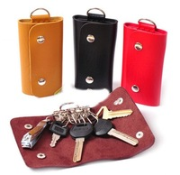 2014 New Fashion Mini Key Wallets,Cheap Candy Colors PU Leather Bags For Key 3C