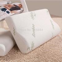 Free shipping 100% cotton pillowcases, slow rebound memory pillow, treatment of fresh vertebral pillow