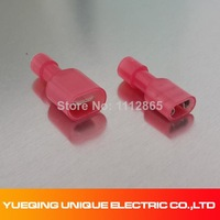 50Pcs Female & Male Insulated Wiring Wire Crimp Terminals Connectors Spade Kit 22 - 18 AWG Free Shipping