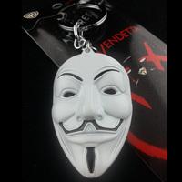 NEW V for Vendetta original White Metal Mask Keychain HOT Combine Shipping