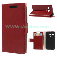 For Motorola Moto G Crazy Horse Leather Stand Case Card Slots Free Shipping
