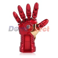Fashion Avengers Iron Man Ironman 3 Hand LED 4G/8G/16G USB Flash Drive Cool USB 2.0 Memory Stick Usb Flash Disk