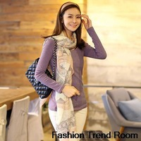 2014 High quality Brand New Style Thin Section the Silk Floss Women Scarf Shawl Eiffel Tower Pattern plus size scarves