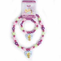 Tinker Bell  Princess Design pendant  Necklace Bracelet  Children  Jewelry Sets Girls gift  Kids Party favors  4 style  PAS-3206