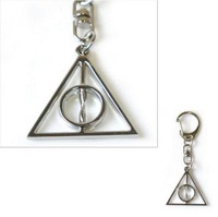 HARRY POTTER DEATHLY HALLOWS MAGIC KEY CHAIN RING KEYCHAIN CLIP