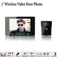 "7"" Color Monitor Touch Key Wireless Video Door Phone Doorbell Intercom System Ir Camera"